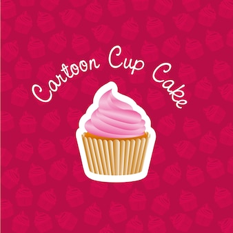 Autocolante básico de cupcake