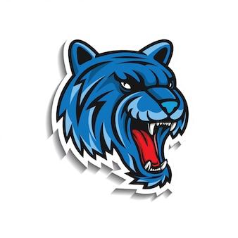 Autocolante de cabeça de tigre