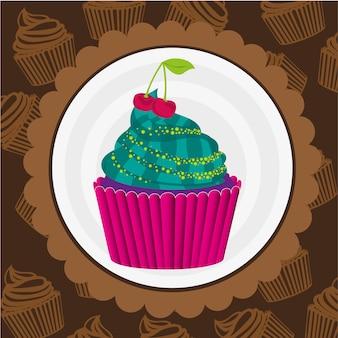 Autocolante de cupcake
