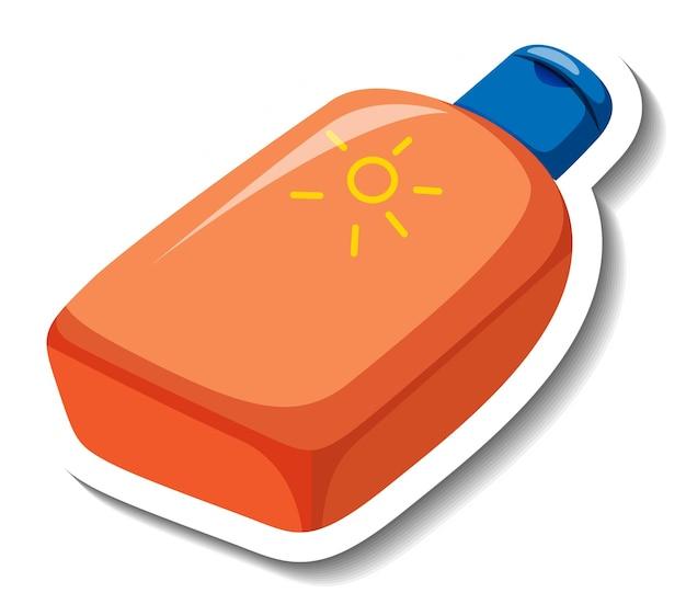 Autocolante de desenho de produto de loção solar