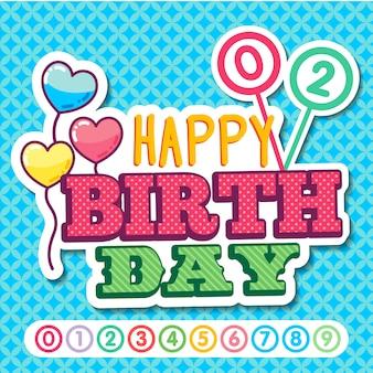 Autocolante de feliz aniversário