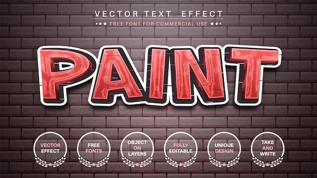 Autocolante de graffiti, editar efeito de texto, estilo de fonte editável
