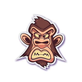 Autocolante de macaco malvado