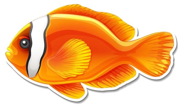 Autocolante de peixe fofo com animal marinho