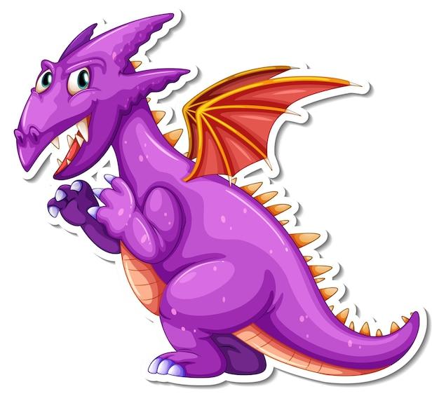 Autocolante de personagem de desenho animado de dragão fantasia