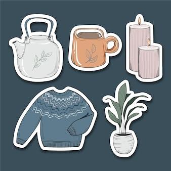 Autocolantes de higiene desenhados à mão