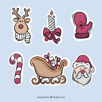 Autocolantes desenhos bonitos de ornamentos tradicionais de natal