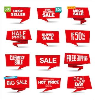 Autocolantes e etiquetas de venda