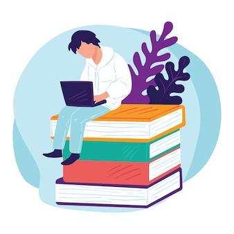 Autodesenvolvimento e obtenção de conhecimentos, estudando na universidade ou trabalhando como freelance