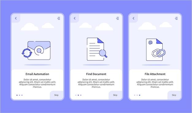 Automação de e-mail encontrar integração de anexo de arquivo de documento
