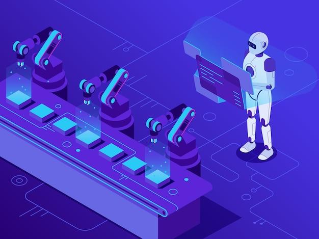 Automatização da manufatura.