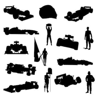 Automobilismo esporte car racing silhueta clip art vector