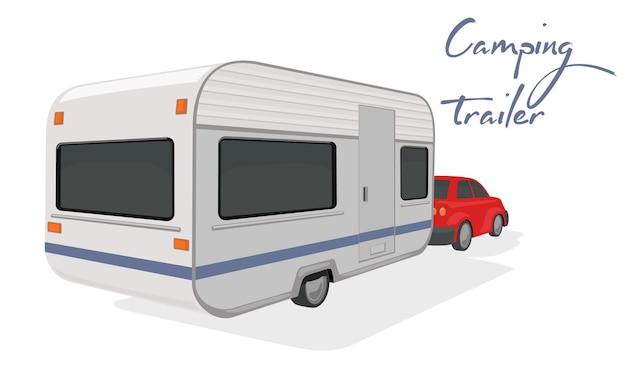 Automóvel e trailer com espaço para morar