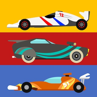 Automóvel esportivo e carro de rali offroad