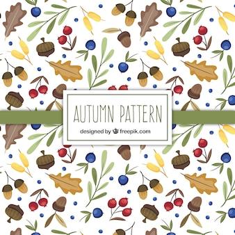 Autumn elementos naturais padrão