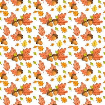 Autumn seamless pattern colorful leaves ornamento temporada de outono