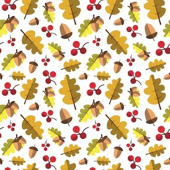 Autumn seamless pattern yellow leaves ornamento temporada de outono