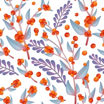 Autumn wild flower seamless fabric ou teste padrão do papel de envolvimento, laranja & roxo.