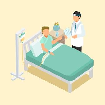 Auxílio médico em design plano isométrico 3d
