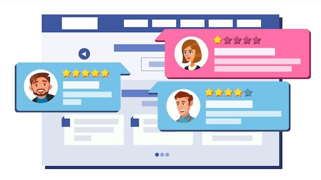 Avaliação avaliação do design da página da web
