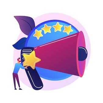 Avaliação da marca. classificação de produtos, ferramenta smm, análise de feedback do usuário. especialista em marketing digital analisando as taxas de satisfação dos clientes