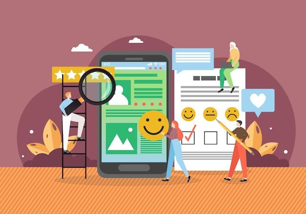 Avaliação do cliente, classificação, feedback do cliente.