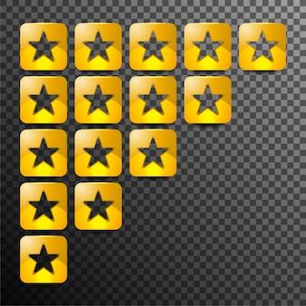 Avaliação do produto ou avaliação do cliente para aplicativos e sites