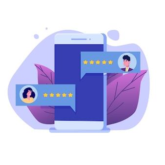 Avaliação online do cliente, conceito de revisão. avaliação de usabilidade.