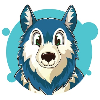 Avatar bonito do lobo azul