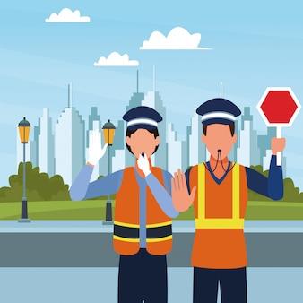 Avatar de agentes de trânsito