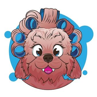 Avatar de cachorro cabeça grande
