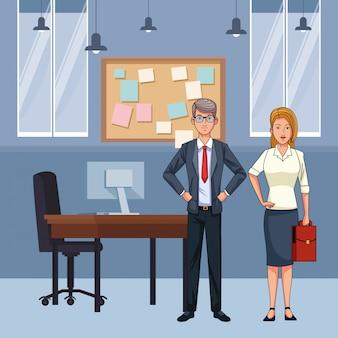 Avatar de casal de negócios