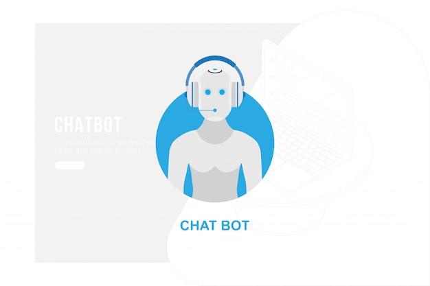 Avatar de chatbot para site, comunicação digital on-line