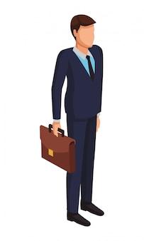 Avatar de empresário executivo