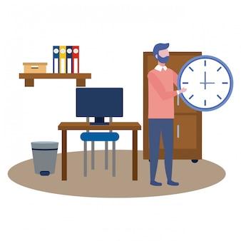 Avatar de homem de negócios dos desenhos animados