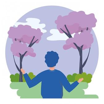 Avatar de homem no parque