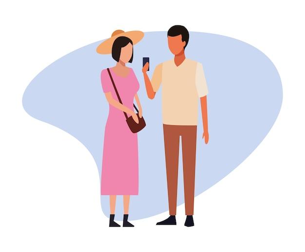 Avatar de jovem casal