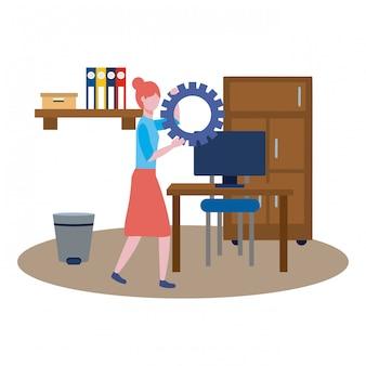 Avatar de mulher de negócios dos desenhos animados