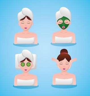Avatar de mulheres em terapia de spa
