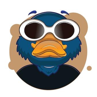Avatar de ornitorrinco azul cabeça grande