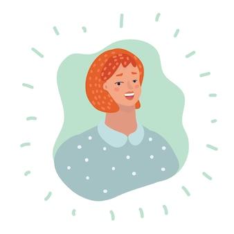 Avatar de perfil de pessoa de ícone de usuário feminino