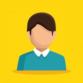 Avatar de personagem de empresário isolado