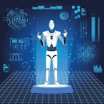 Avatar de robô humanóide