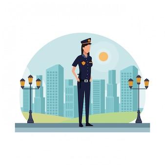 Avatar de trabalhador de mulher policial