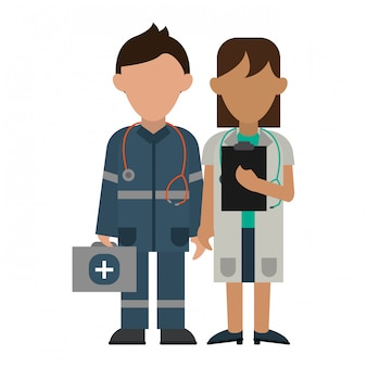 Avatar de trabalho em equipe médica