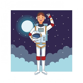 Avatar isolado de astronauta