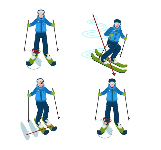 Avatar para ilustração de instrução de patinação no gelo