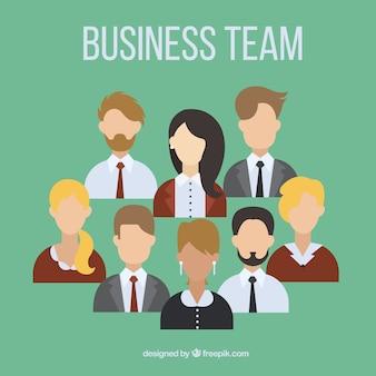Avatares coleção equipe de negócios