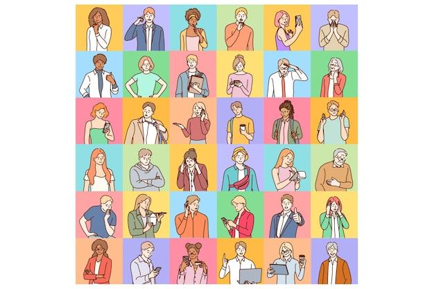 Avatares, conceito mundial de diversidade de pessoas.