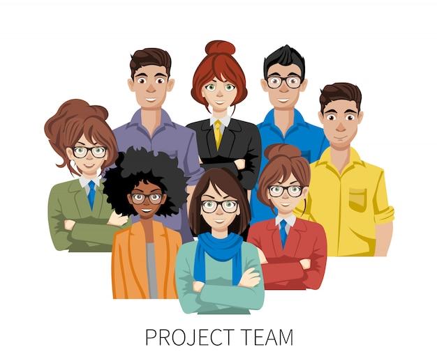 Avatares da equipe de projeto